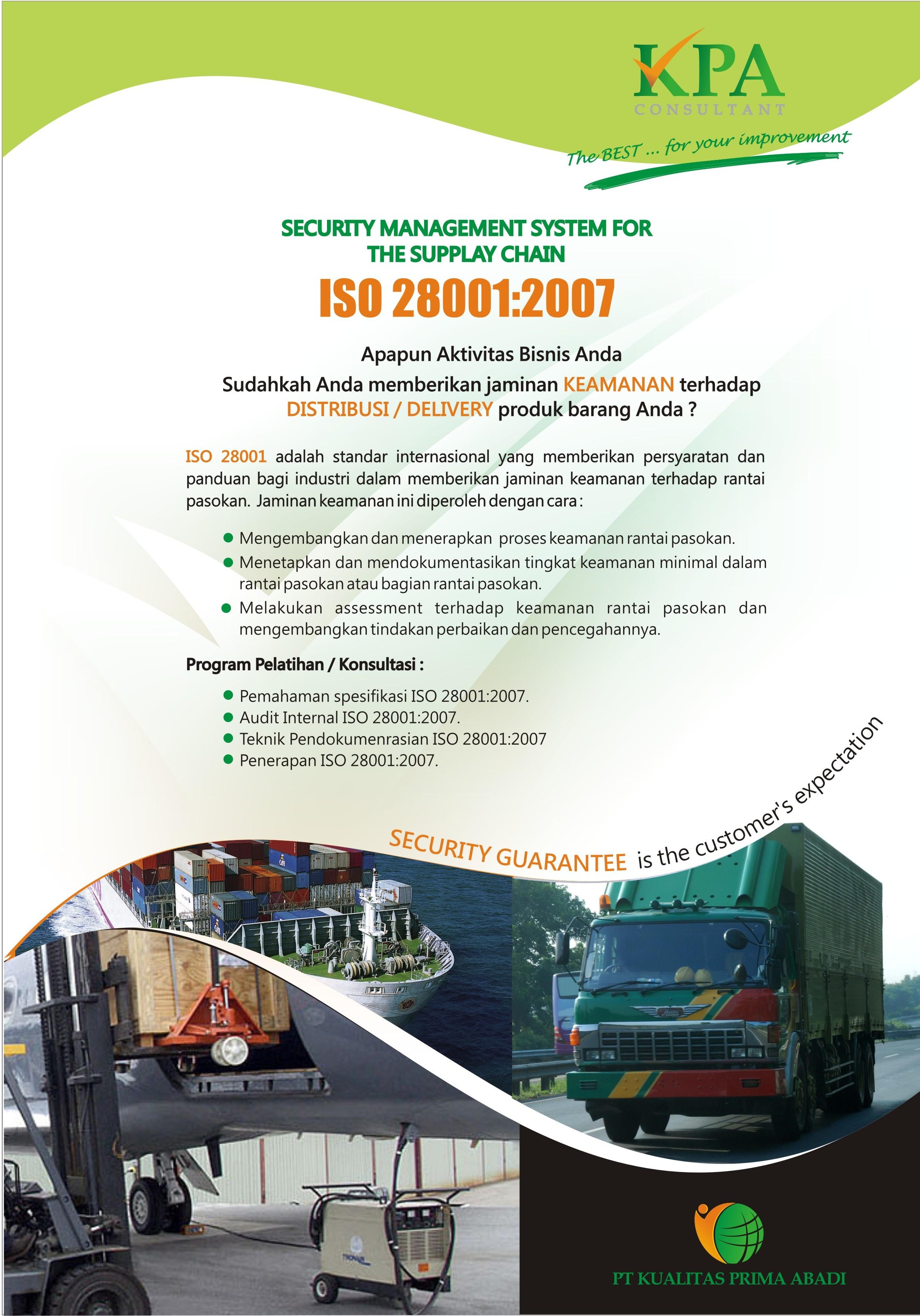 Brosur ISO 28001